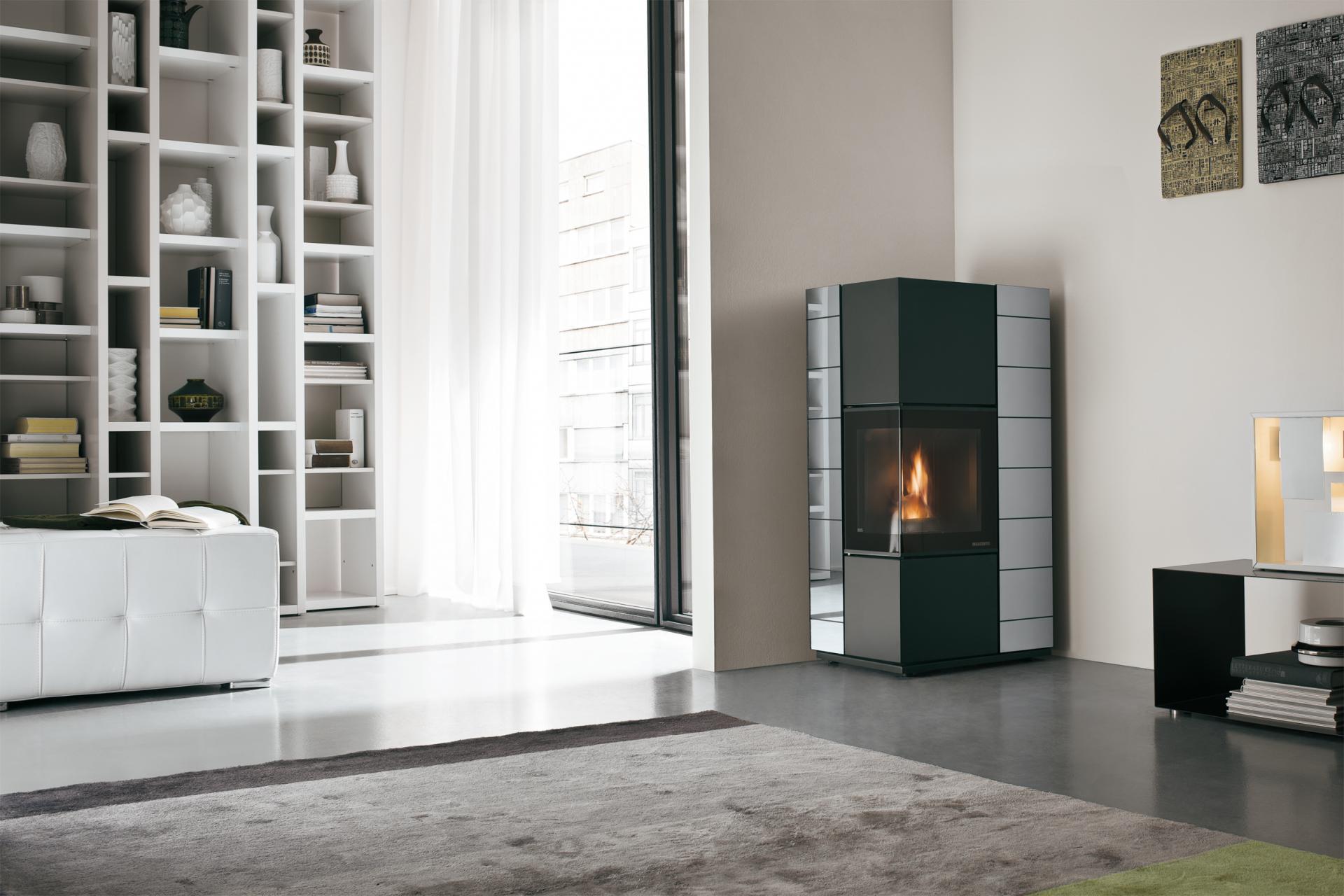poele a granule d angle design energies naturels. Black Bedroom Furniture Sets. Home Design Ideas