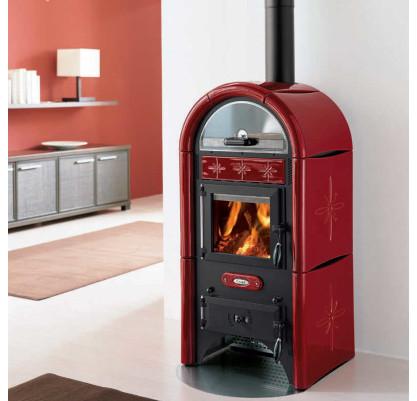 poele bois rouge energies naturels. Black Bedroom Furniture Sets. Home Design Ideas