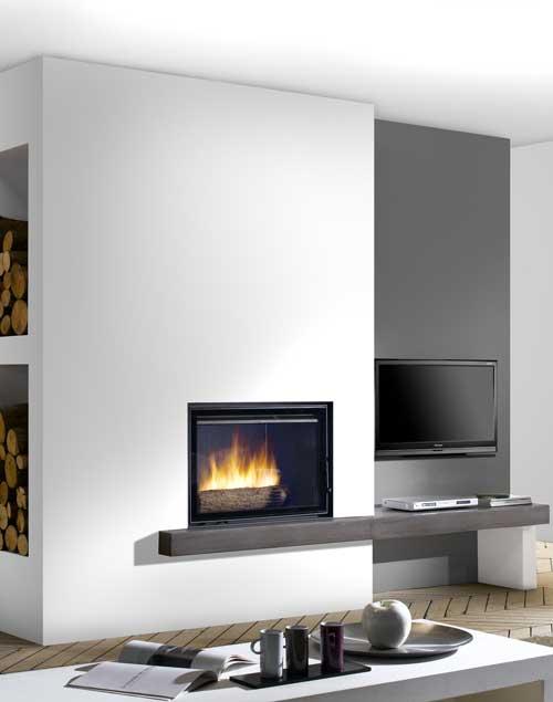 chemin e avec insert moderne energies naturels. Black Bedroom Furniture Sets. Home Design Ideas