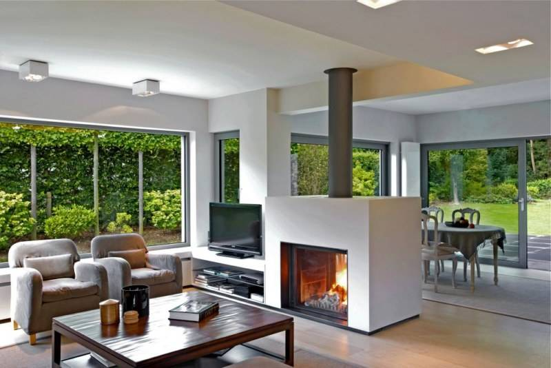 cheminee traversante energies naturels. Black Bedroom Furniture Sets. Home Design Ideas