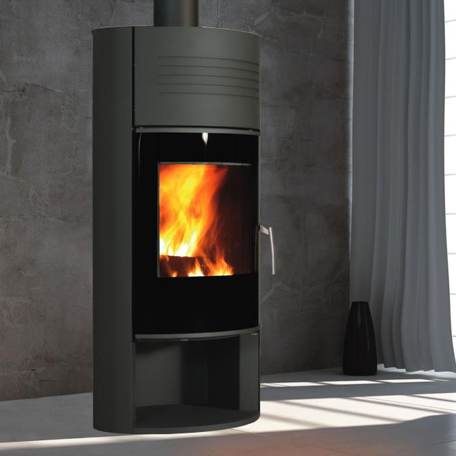 poele fonte flamme ilam energies naturels. Black Bedroom Furniture Sets. Home Design Ideas