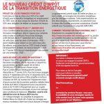 Loi finance 2015 credit impot energie