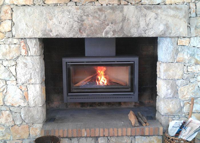 poele pour cheminée ouverte - energies naturels