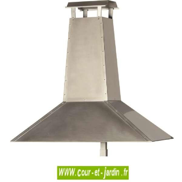 Chemin e hotte inox energies naturels for Chapeau pour cheminee exterieur