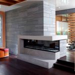 Insert cheminée moderne