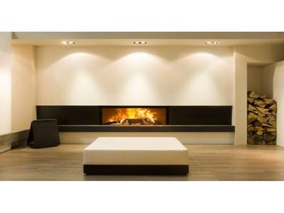 Insert bois moderne energies naturels - Grand insert cheminee bois ...