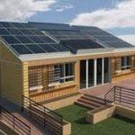 Panneau solaire sur maison