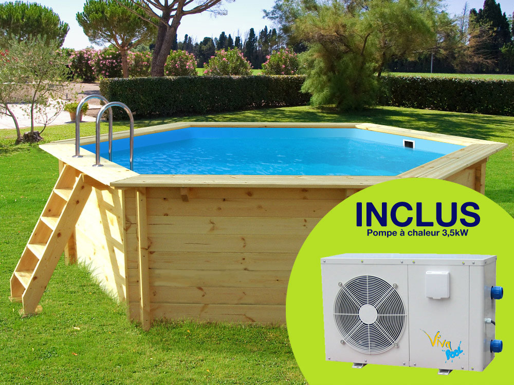 Pompe chaleur viva pool energies naturels for Solde piscine bois