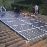 Pose de panneaux solaires