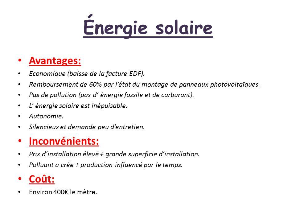 nergie solaire avantages energies naturels